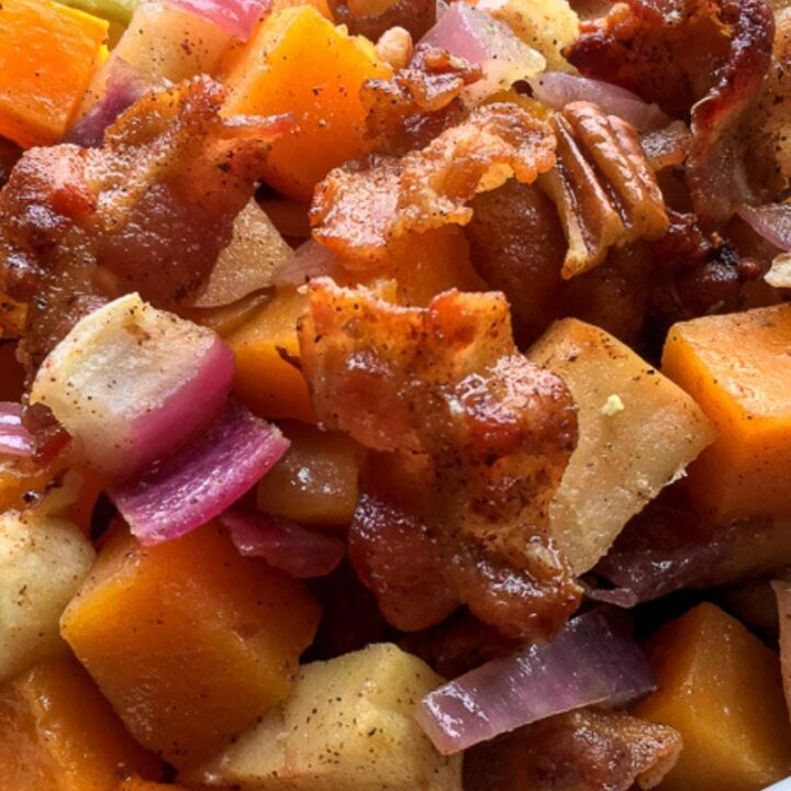 Apple & Squash Casserole with Bacon & Pecans Recipe