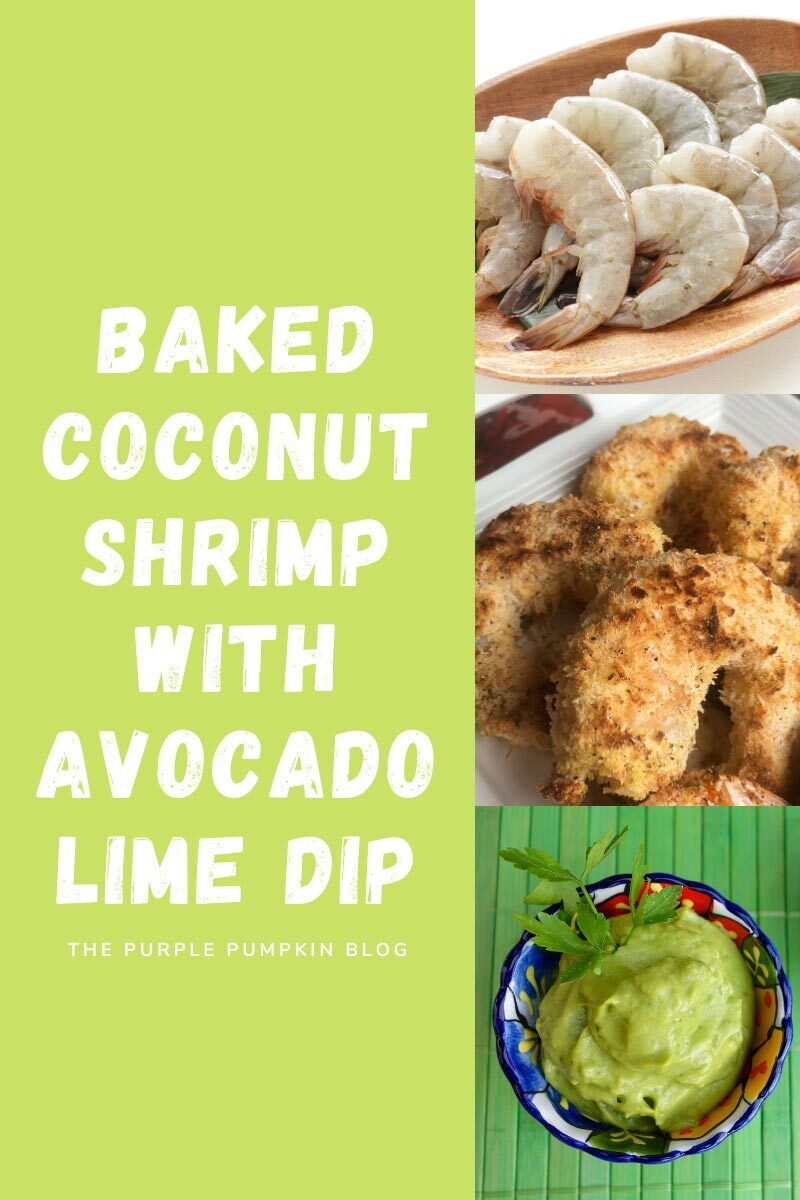 Baked Coconut Shrimp with Avocado Lime Dip