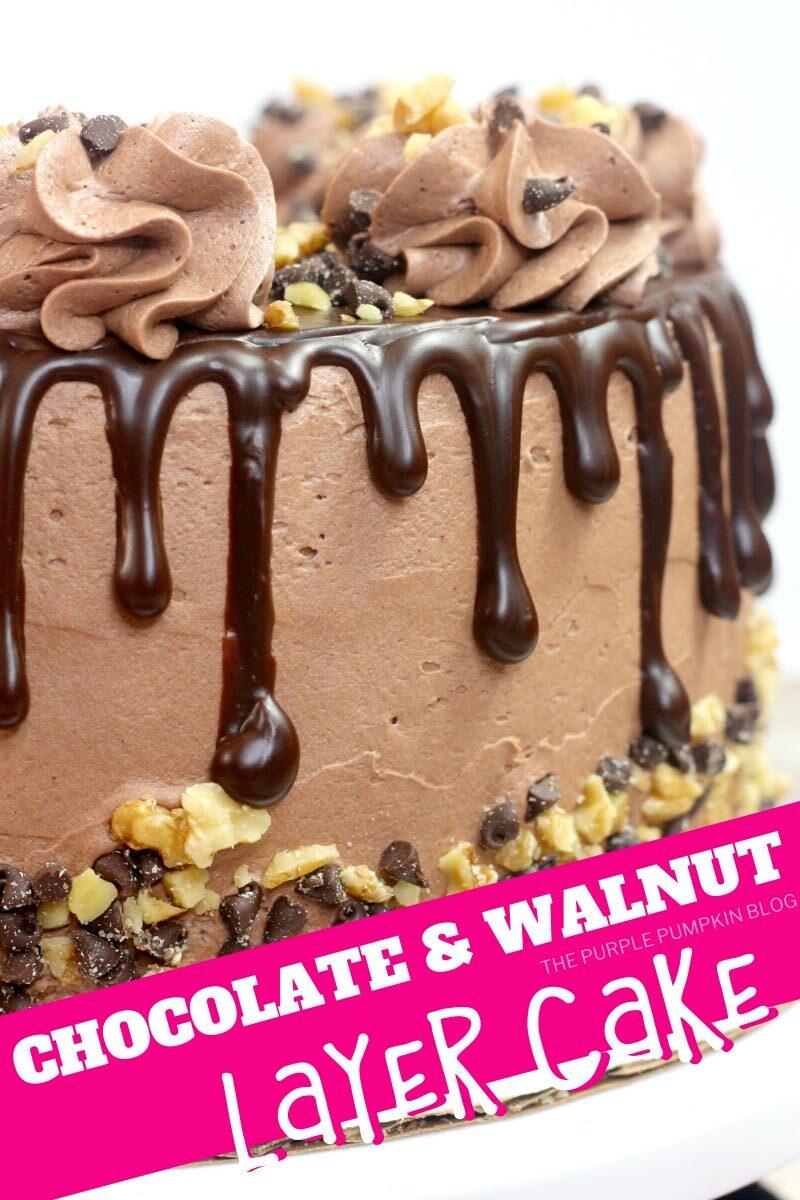 Chocolate & Walnut Layer Cake