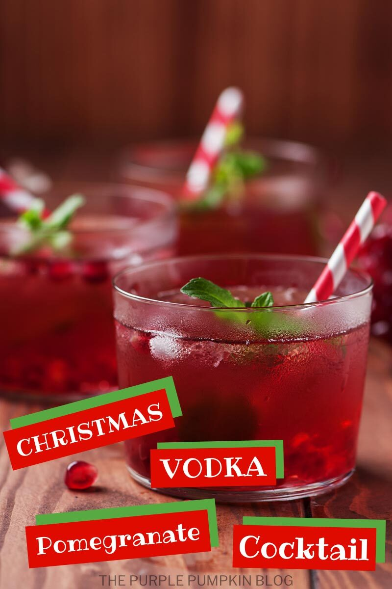 Christmas Vodka Pomegranate Cocktail