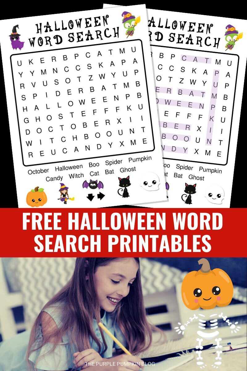 Free Halloween Word Search Printables