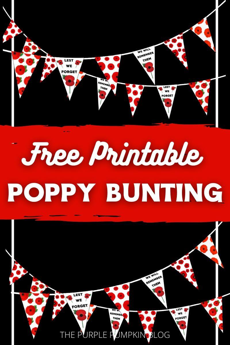 Free Poppy Bunting Printable