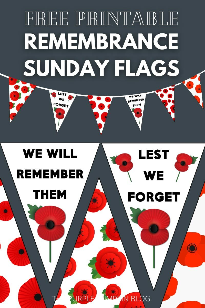 Free Printable Remembrance Sunday Flags