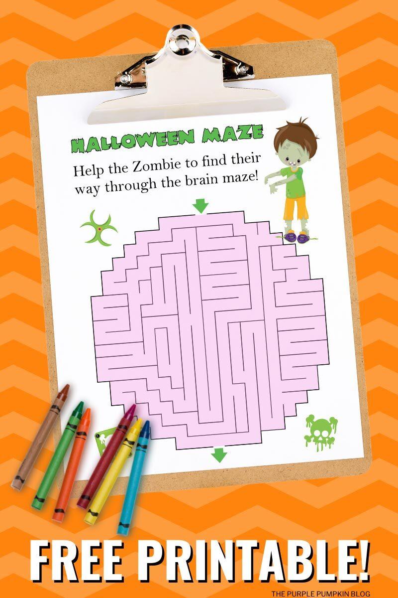 Free Printable Halloween Maze