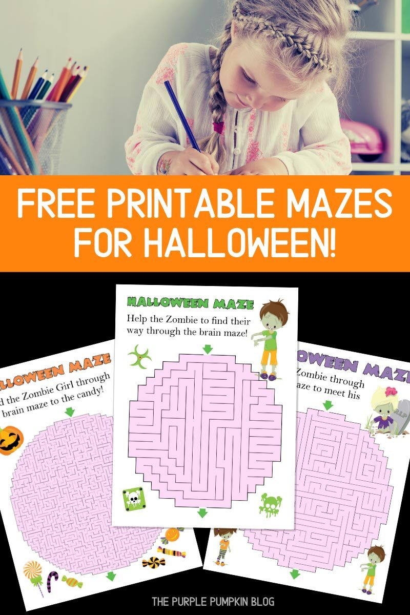 Free Printable Mazes for Halloween