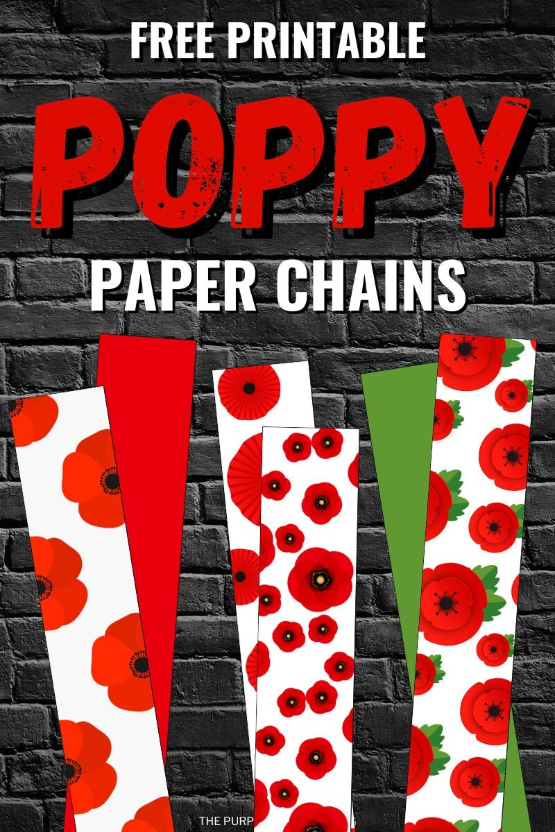 Free Printable Poppy Paper Chains