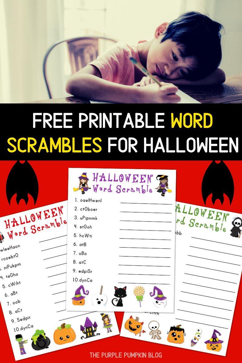 Free Printable Halloween Word Scrambles!