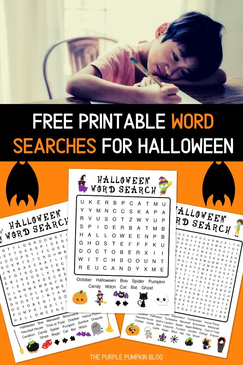 Free Printable Word Searches for Halloween