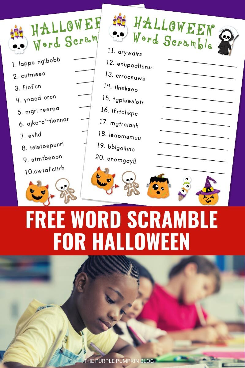 Free Word Scrambles for Halloween Fun