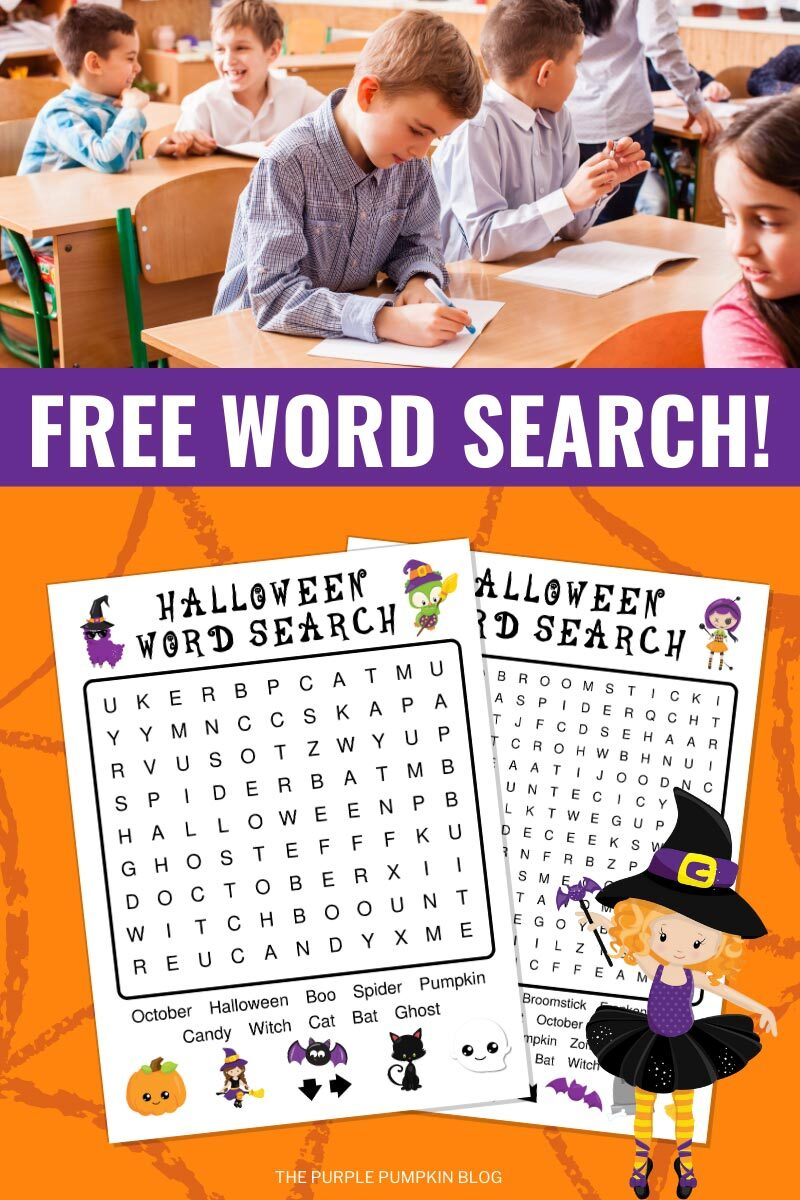 Free Word Search for Halloween