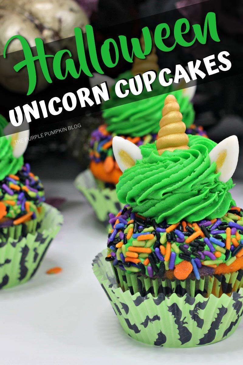 Halloween Unicorn Cupcakes Recipe