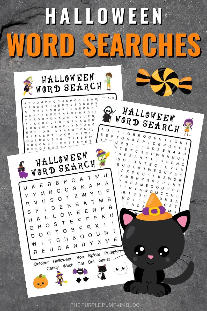 Halloween Word Searches