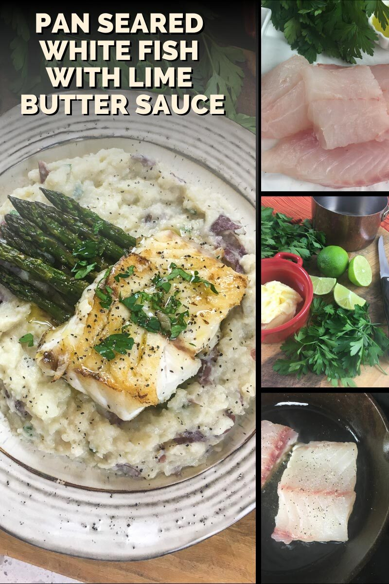 How to Make Pan Seared White Fish with Lime Butter Sauce