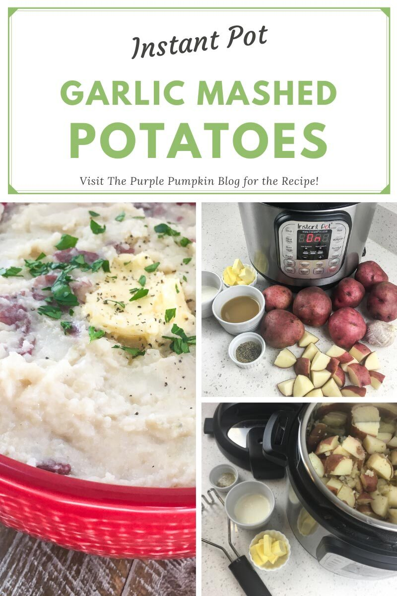 Instant Pot Garlic Mashed Potatoes Recipe