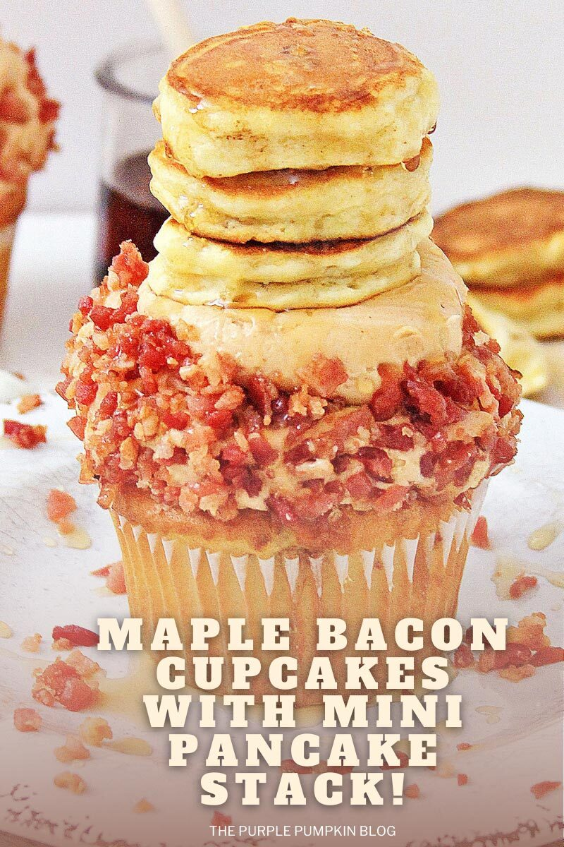 Maple Bacon Cupcakes with Mini Pancake Stack!