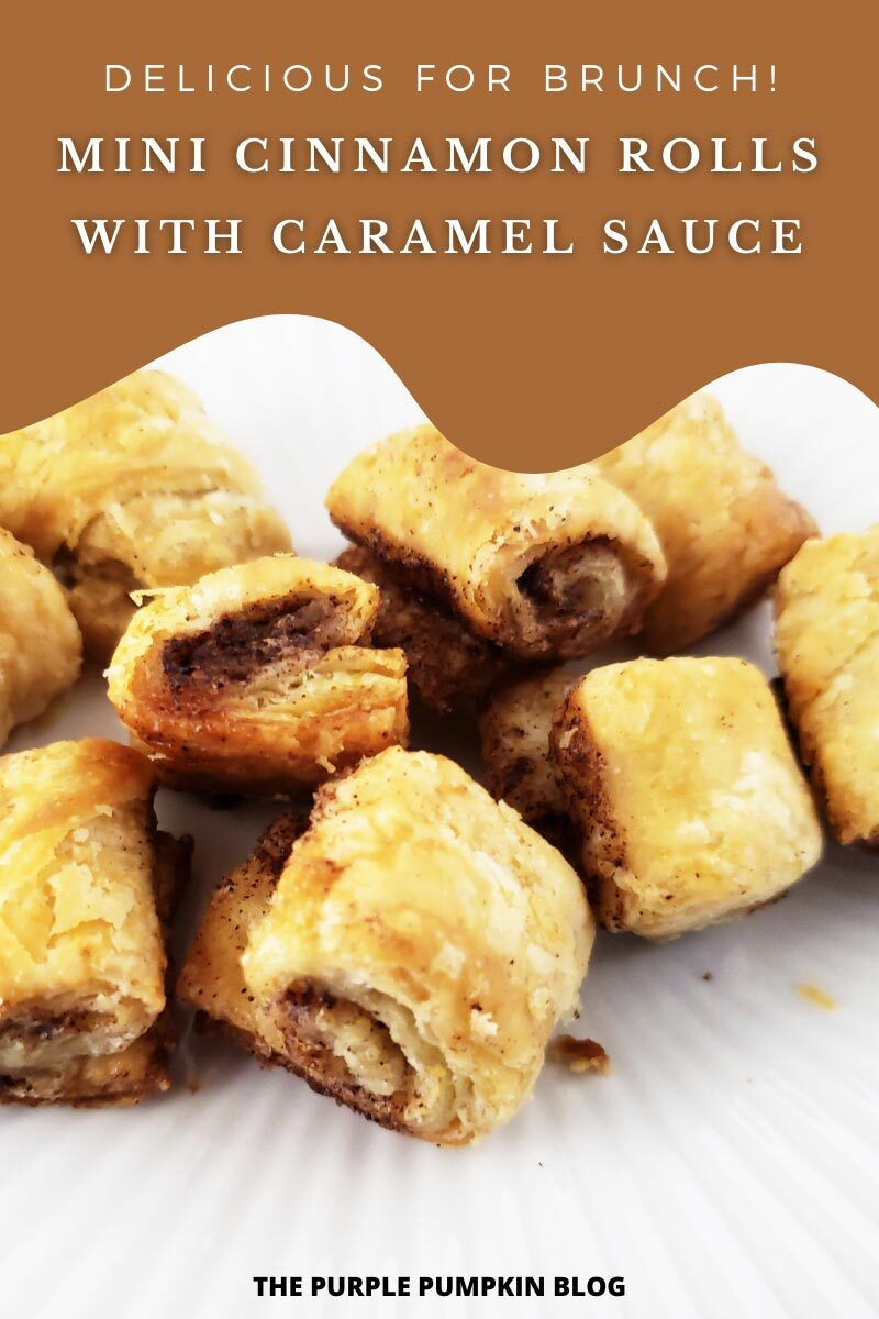 Mini Cinnamon Rolls with Caramel Sauce - Delicious for Brunch