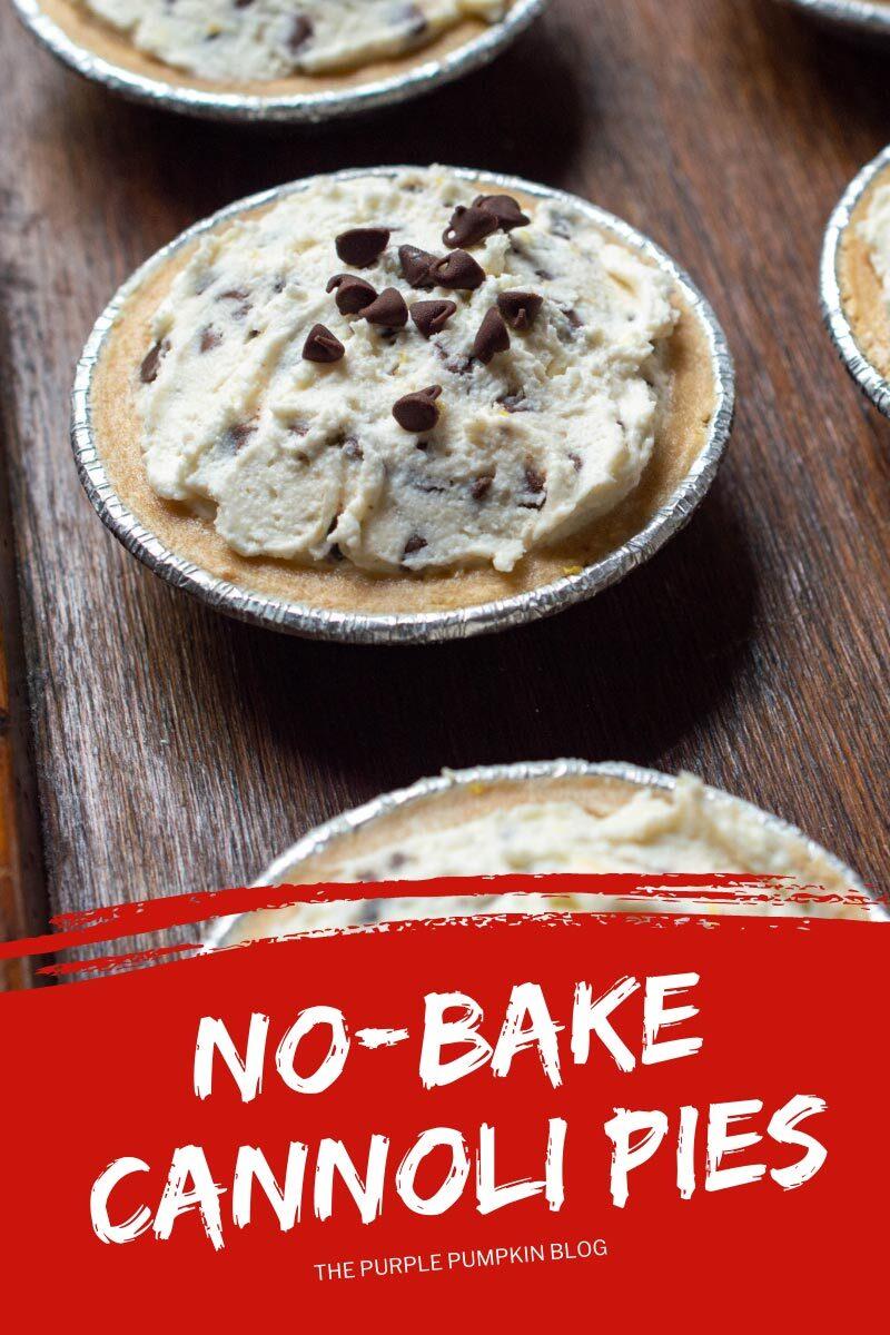 No-Bake Cannoli Pies