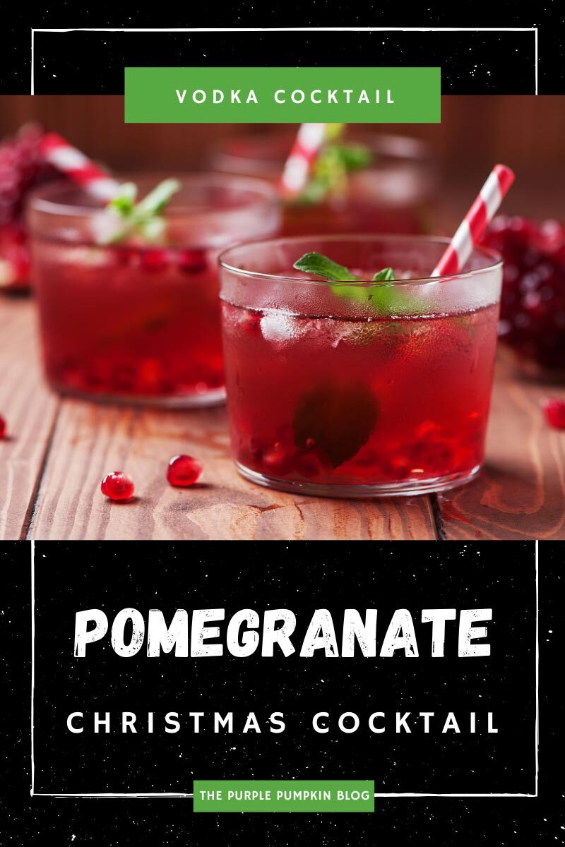 Pomegranate Christmas Cocktail with Vodka