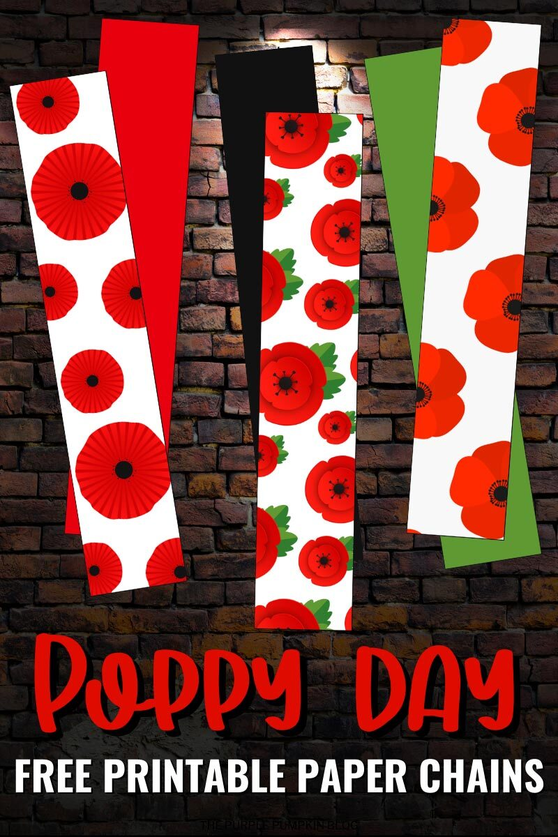 Poppy Day Free Printable Paper Chains
