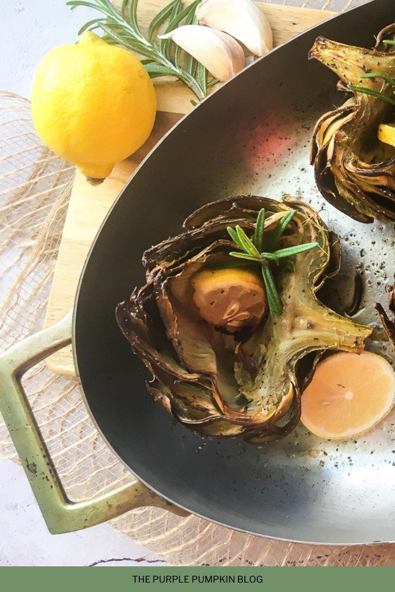 Roast Artichokes with Lemon & Garlic Recipe