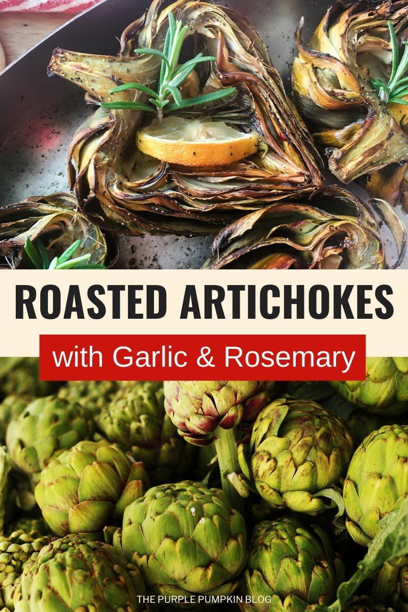 Roasted Artichokes with Garlic & Rosemary
