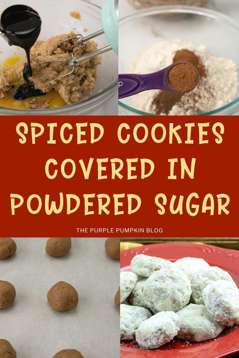 Spiced Cookies covered in Powdered Sugar
