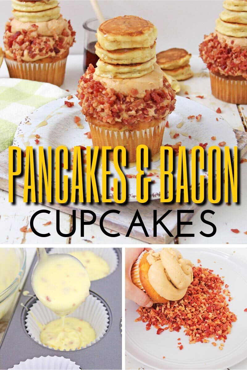 Stack of Pancakes & Bacon Cupcakes