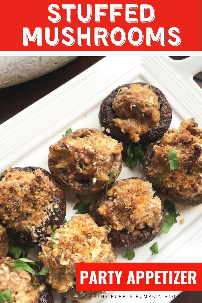 Stuffed Mushrooms Party Appetizer
