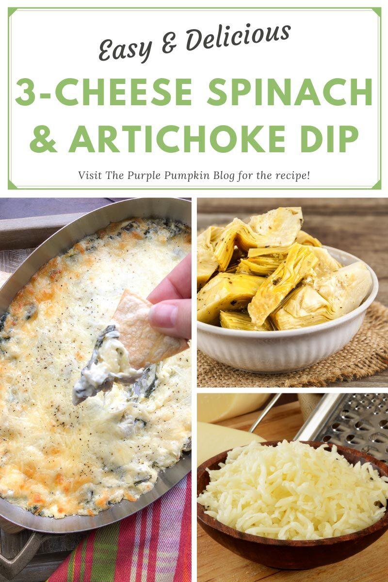 Three Cheese Spinach & Artichoke Dip