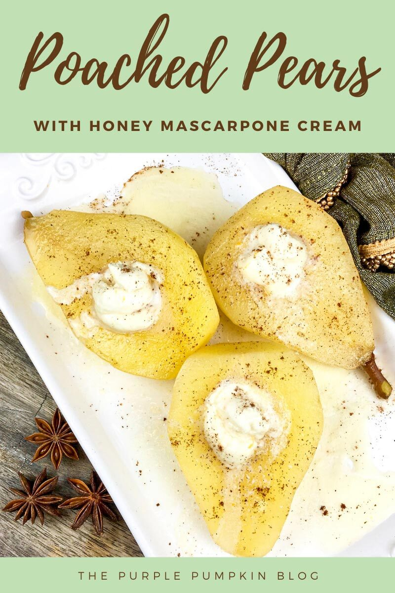 Wine-Poached Pears with Honey Mascarpone Cream