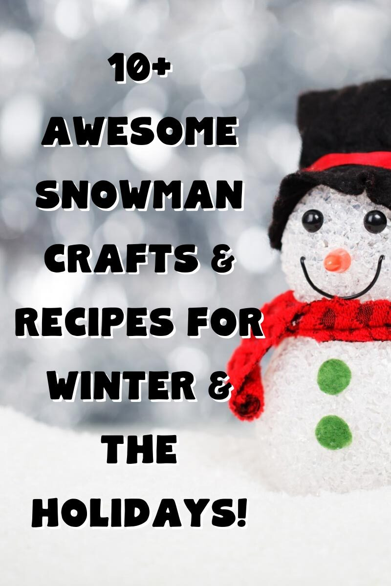 10+ Awesome Snowman Crafts & Recipes for Winter & The Holidays!