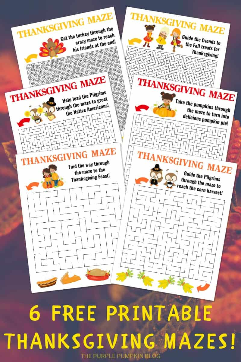 6-Free-Printable-Thanksgiving-Mazes