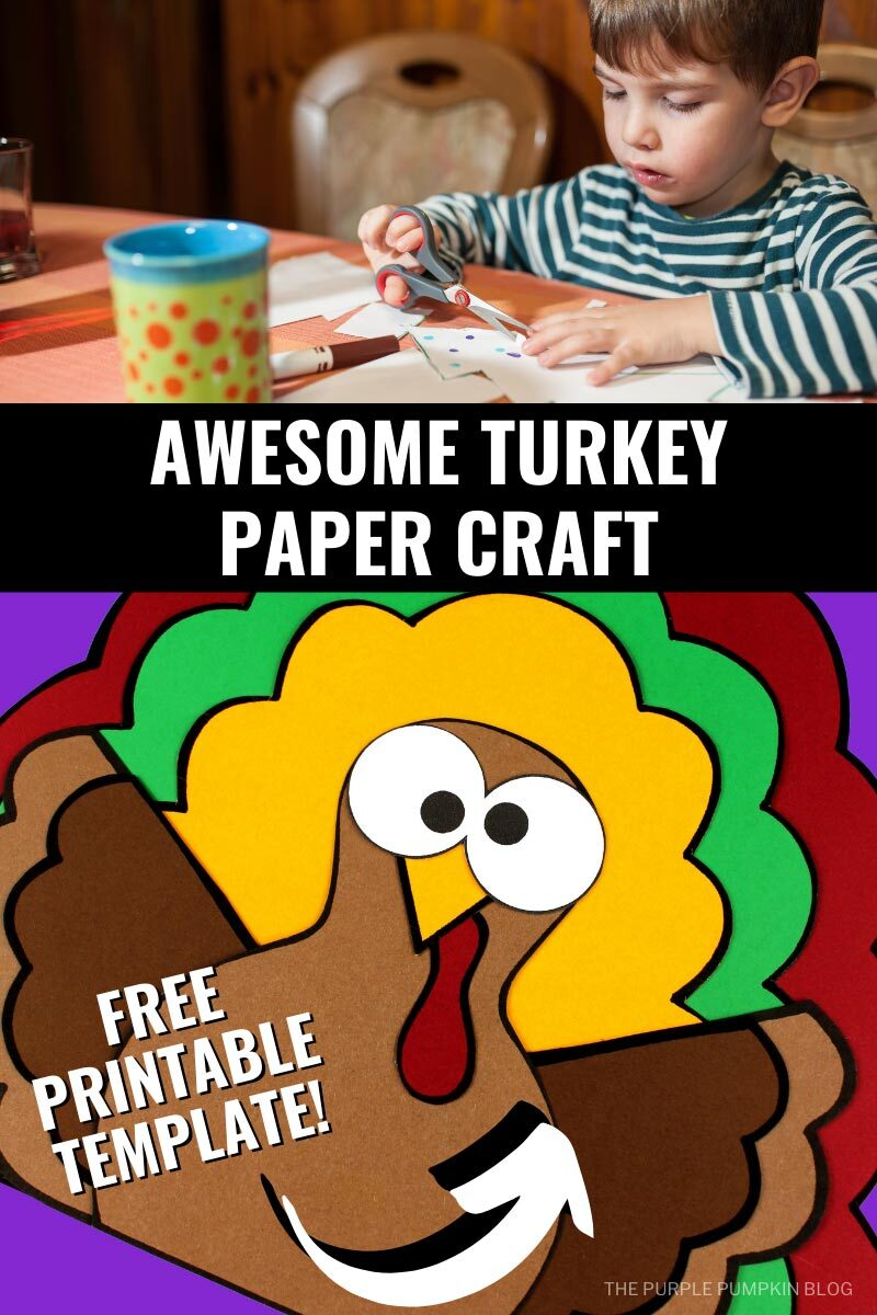 Awesome Turkey paper Craft