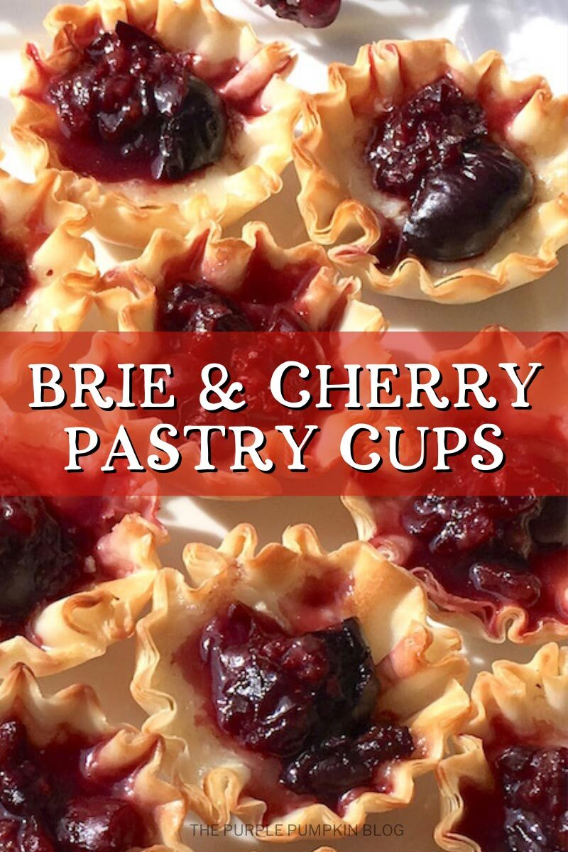 Brie & Cherry Pastry Cups