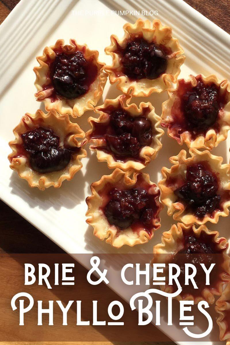 Brie & Cherry Phyllo Bites