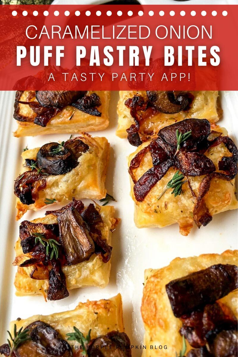 Caramelized Onion Puff Pastry Bites