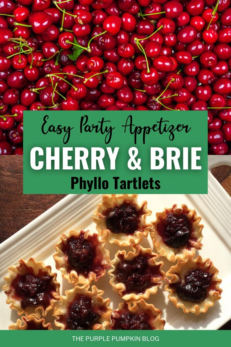 Cherry Brie Phyllo Tartlets - An Easy Party Appetizer!