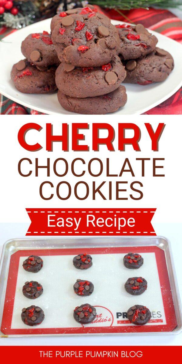 Cherry Chocolate Cookies - Easy Recipe