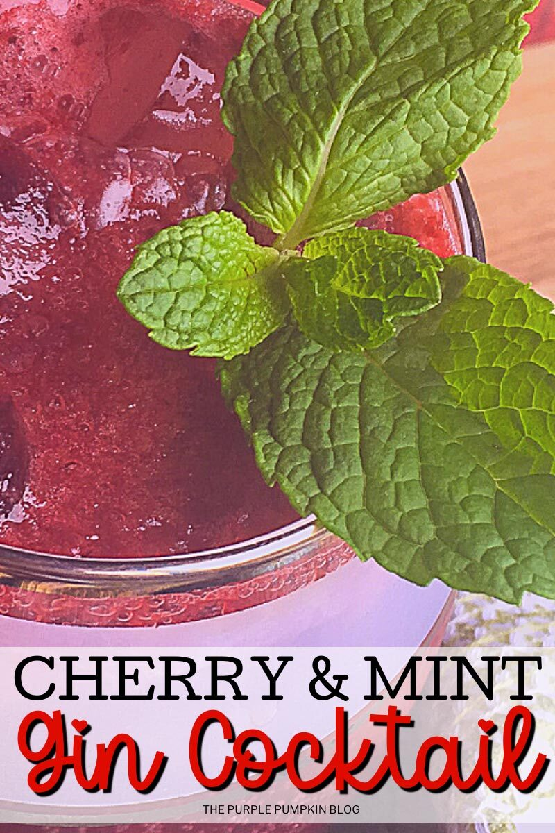 Cherry & Mint Gin Cocktail