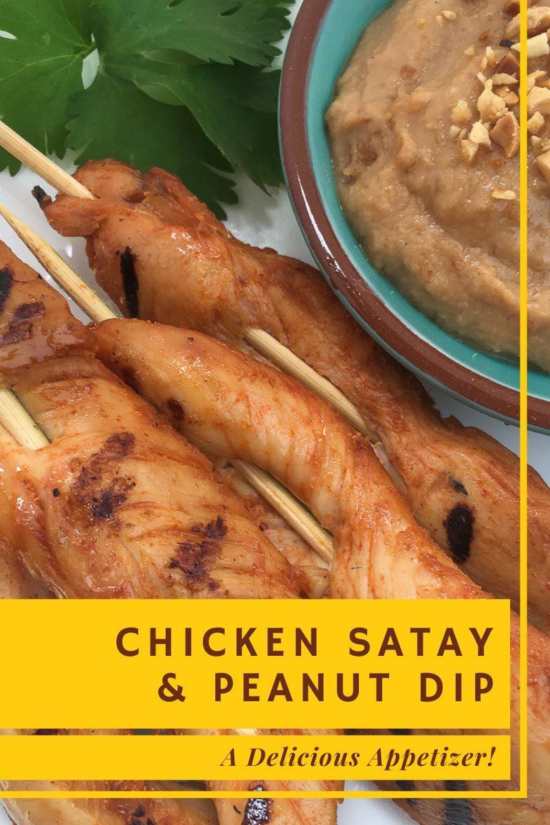 Chicken Satay & Peanut Dip - A Delicious Appetizer
