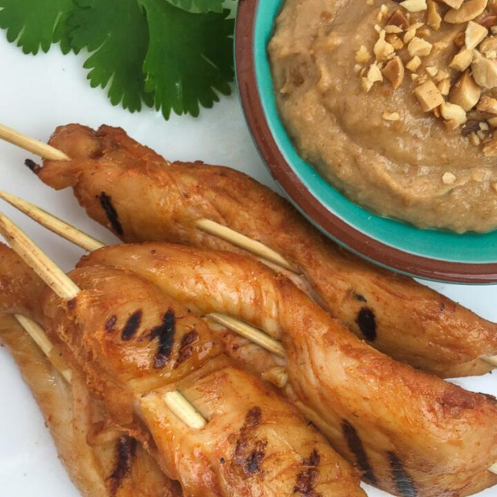 Spicy Chicken Satay with Peanut Dipping Sauce