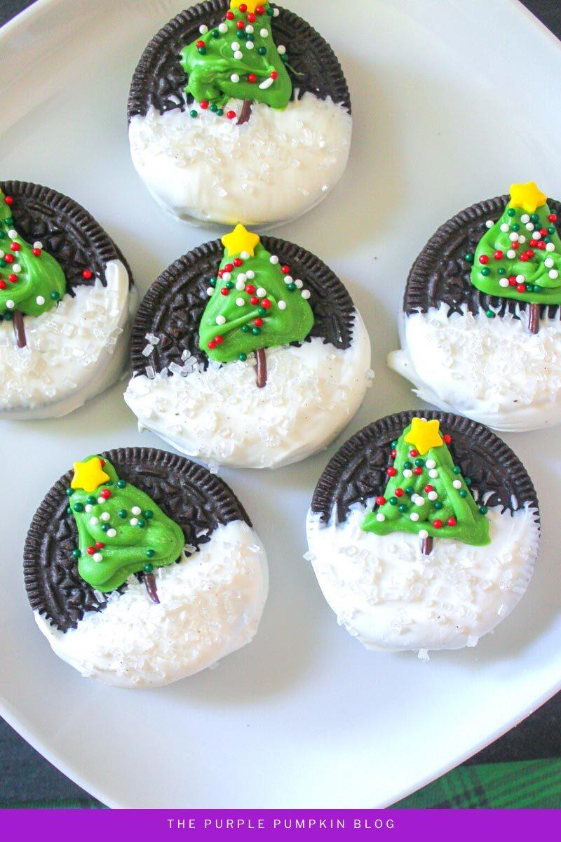 Christmas Tree Decorated Oreos