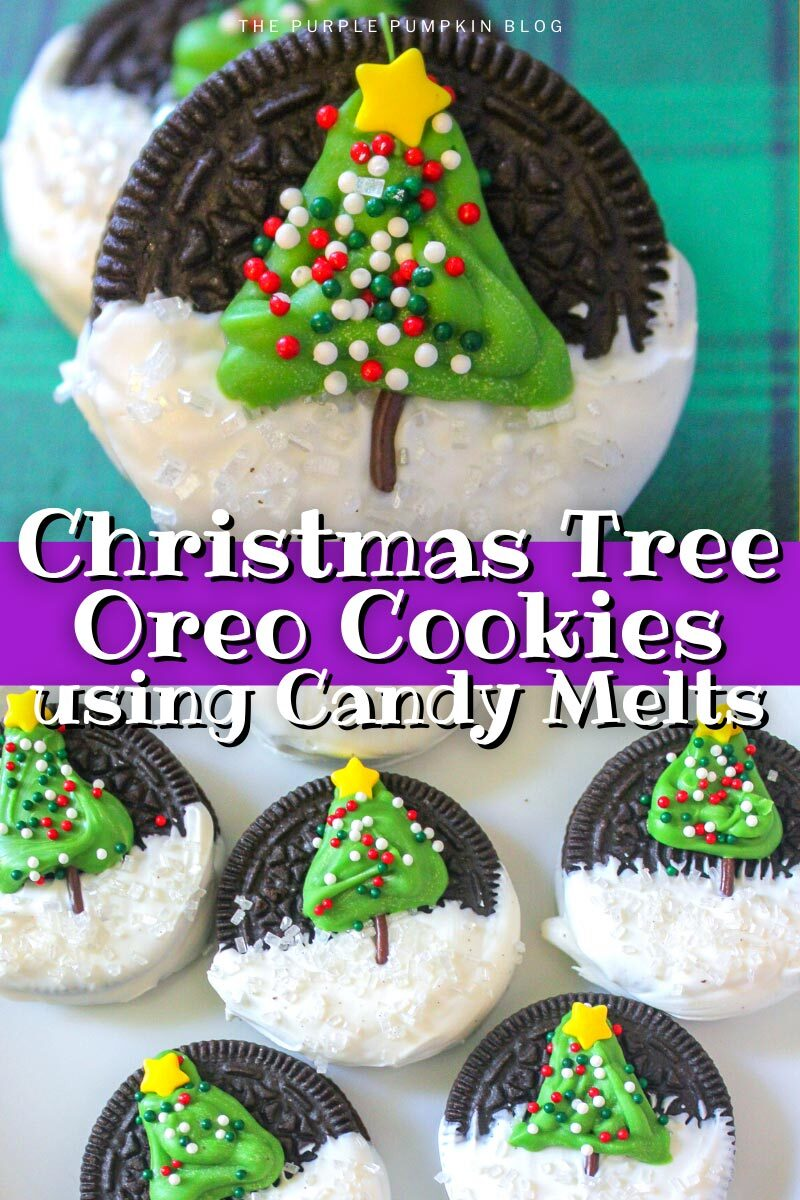 Christmas Tree Oreo Cookies using Candy Melts