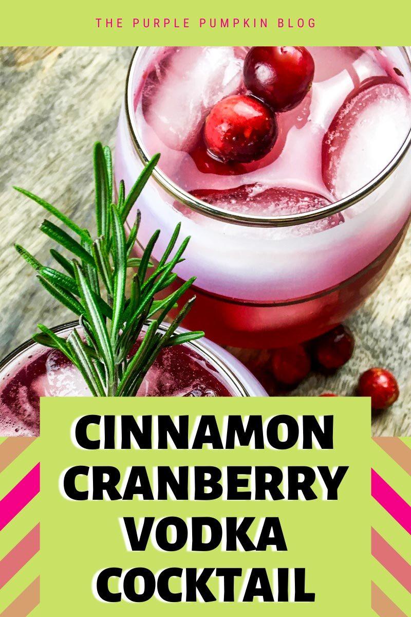 Cinnamon Cranberry Vodka Cocktail