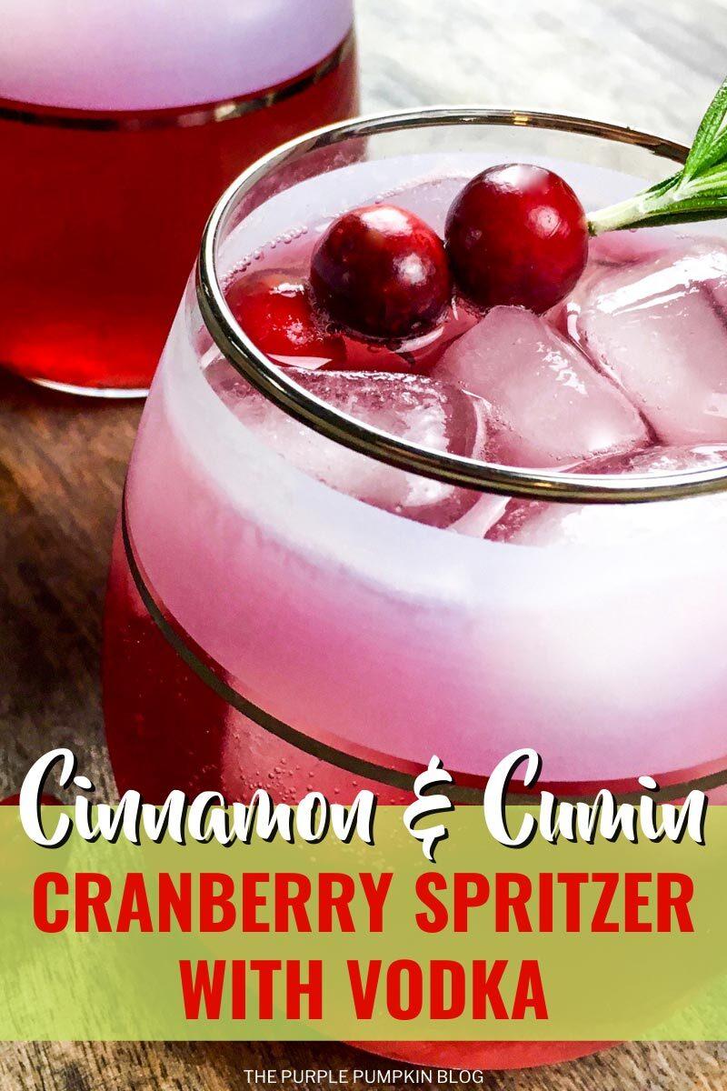 Cinnamon & Cumin Cranberry Spritzer with Vodka