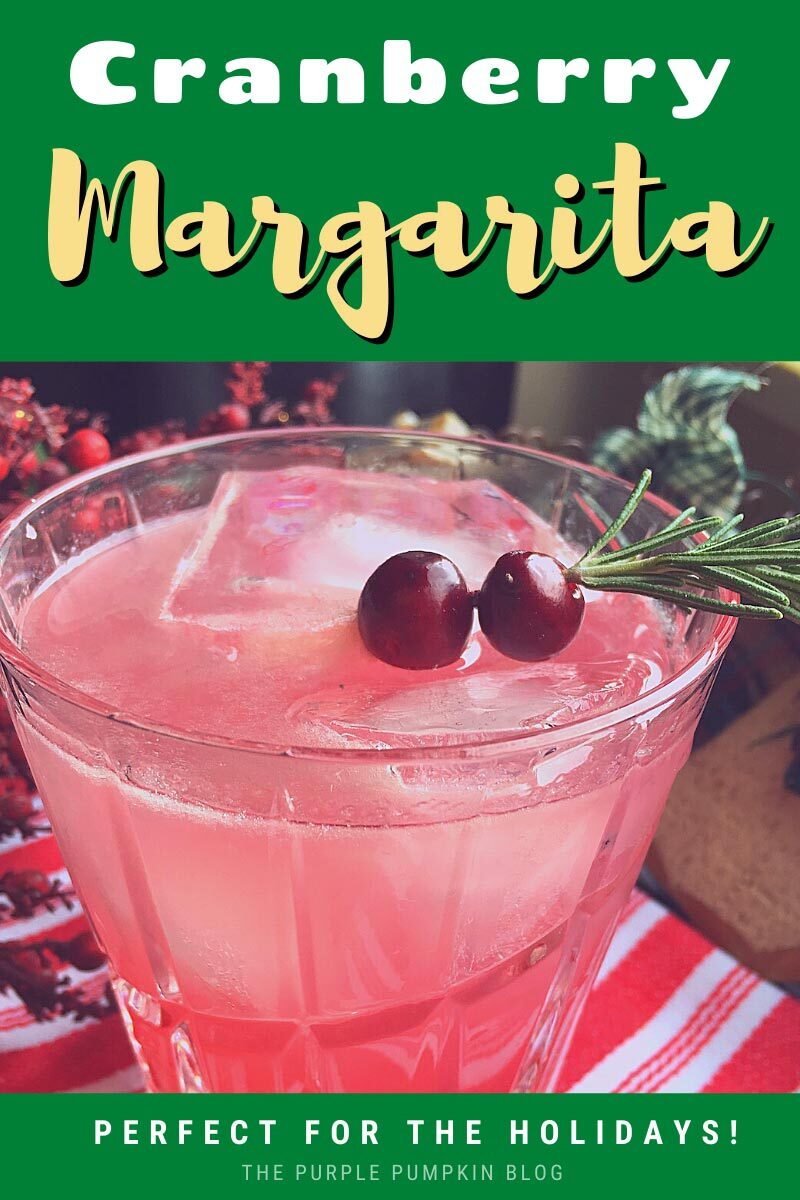 Cranberry Margarita - Perfect for the Holidays!