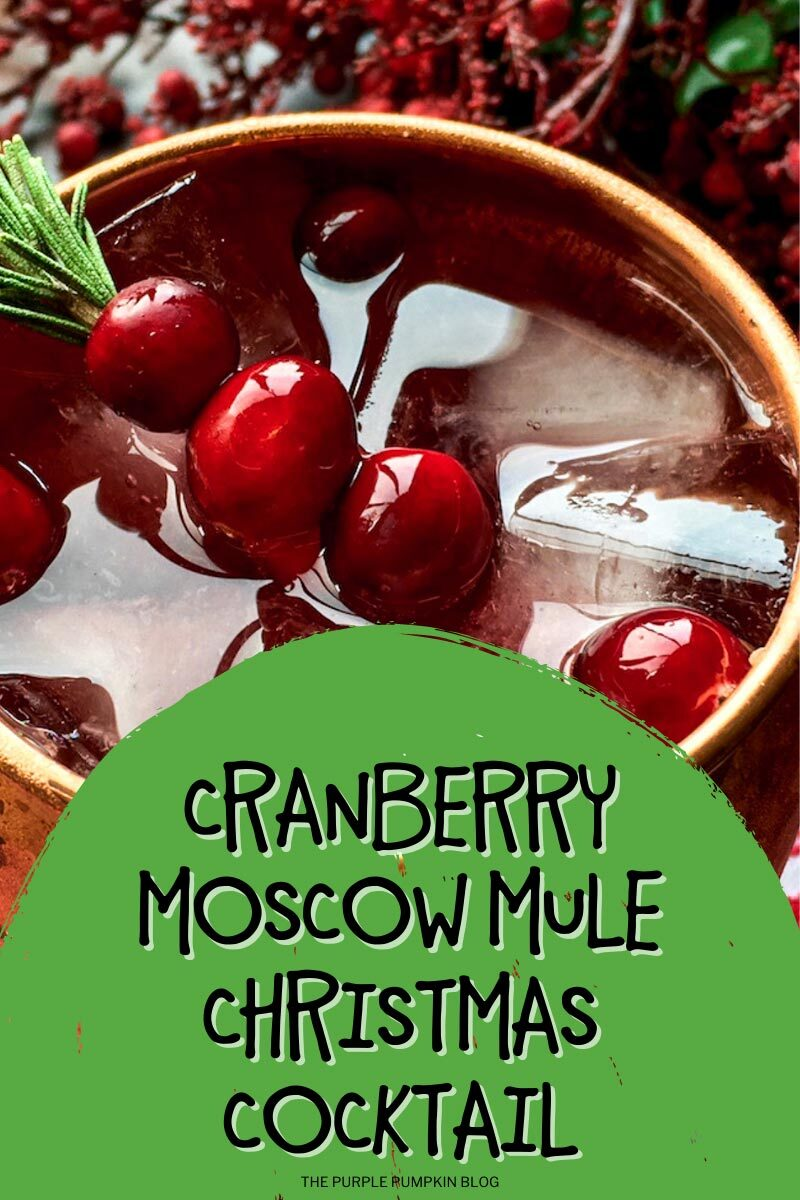 Cranberry Moscow Mule Christmas Cocktail