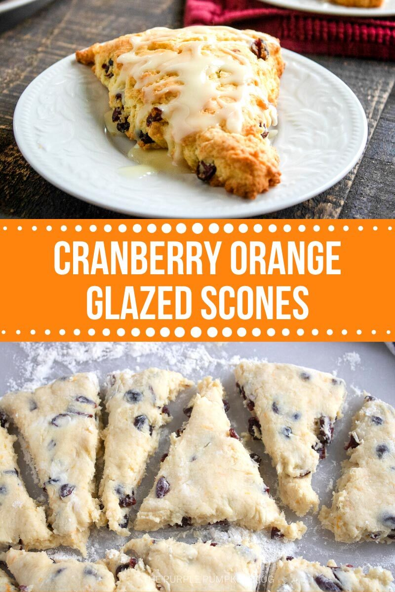 Cranberry Orange Glazed Scones