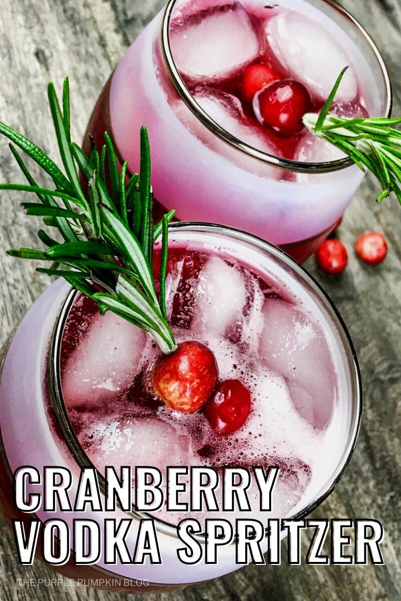 Cranberry Vodka Spritzer