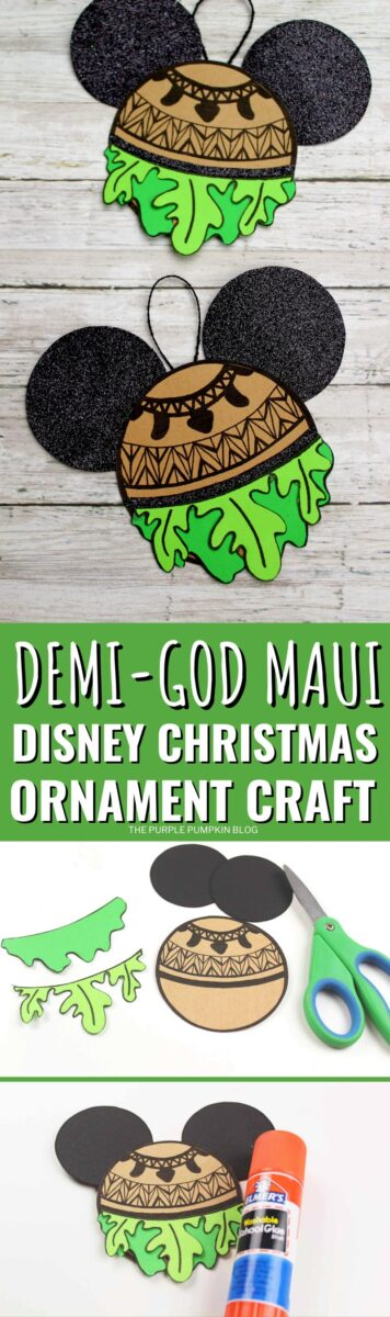 Demi-God Maui Disney Christmas Ornament Craft
